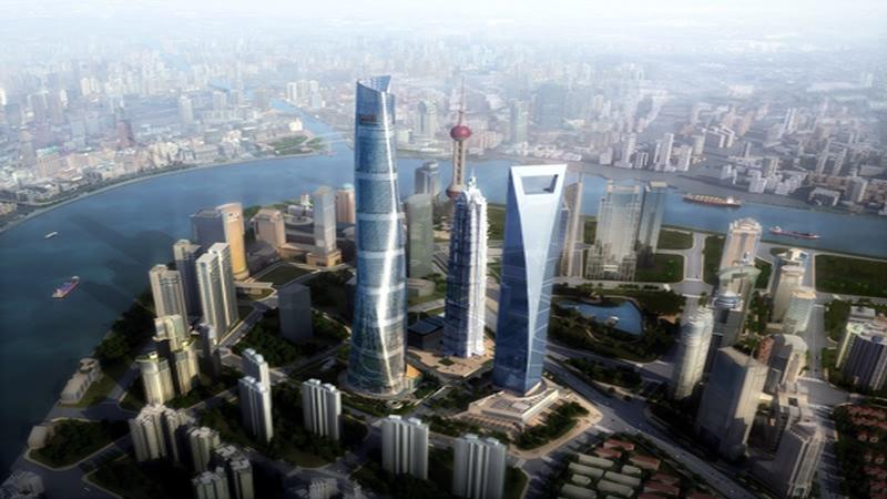 (图十一:上海中心建成后的上海陆家嘴的新格局)