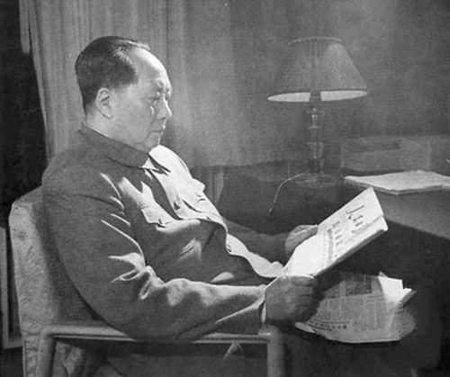毛泽东晚年照